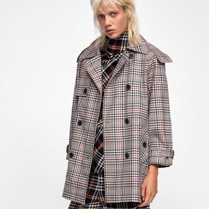 Zara Short Plaid Jacket XS Like New